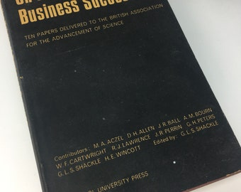 On The Nature Of Business Success vintage book Economics 1968 First 1st edition British Assoc Advancement of Science 60s 1960s sixties