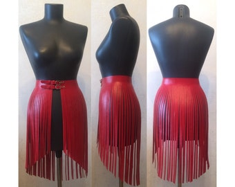 Leather fringe skirt dress fashion style boots purse outfit club rock