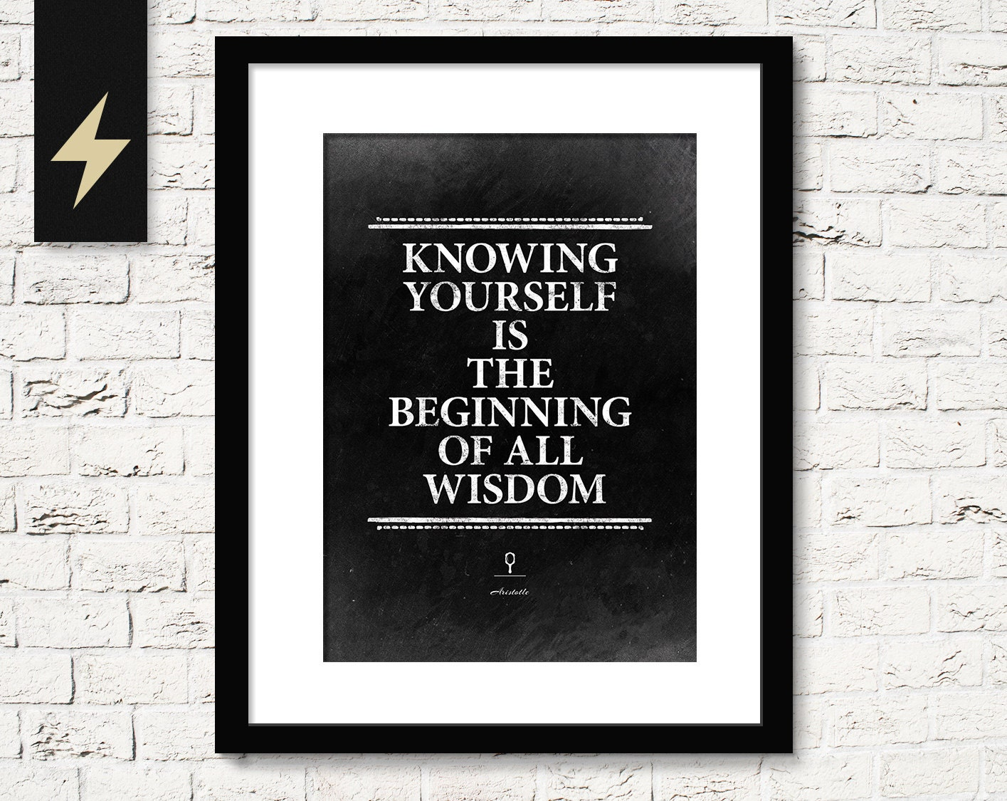 Life Quote Poster Aristotle Quote Posterknow Yourselfencouragement Gift.