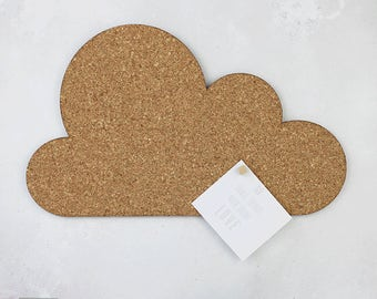 Cloud Cork Memo Board - Cork Pin Board - Cork Notice Board - Modern Cork - Cloud Notice Board - Cloud Cork Pin Board - Pinboard
