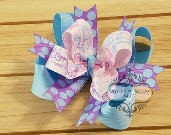 LAST ONE, Happily Ever After hair bow, Princess, Designer,