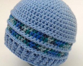 Crochet pattern - Baby girl or boy crochet hat pattern! Beanie crochet pattern. Permission to sell finished items. Pattern No. 154