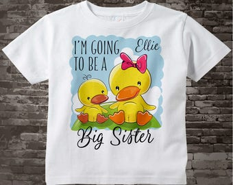 Cute Ducks I'm Going to Be A Big Sister Shirt or Bodysuit - Big Sister Onesie - Personalized Big Sister - Big Sister Announcement 02072017g
