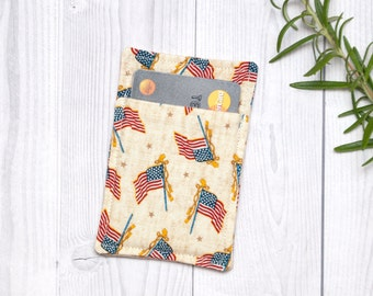 American flag wallet for Credit cards, Business Cards, Gift cards - Card sleeve - Us Flag wallet - Credit card holder - Business card case