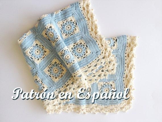 Patrón de Manta de bebé tejido a crochet patron a crochet