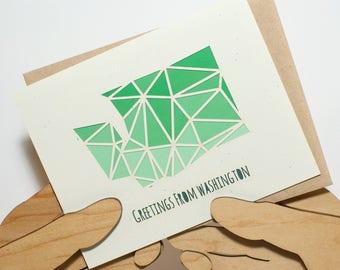 Greetings from Washington Card