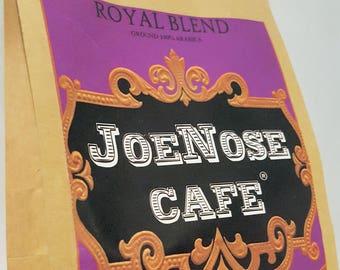 JoeNoseCafe Royal Blend Ground Coffee 8oz