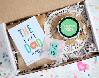 Happy Father's Day Gift Box - Happy Day Gift | Gift Box for His | The Best Dad Ever | Daddy Gift | Cookies and Chocolate for Dad | Chocolate