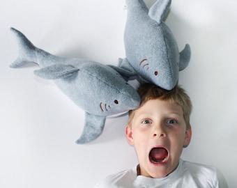 Stuffed Shark, Shark Toy, Plush Shark, Great White Shark, Toy, Baby Toy, Plush toy Baby Toy - Customize Color
