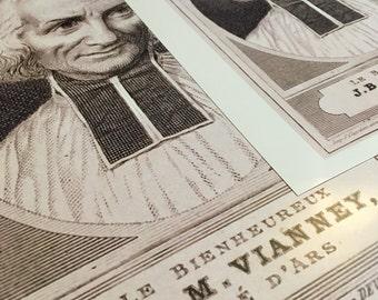 Saint John Marie Vianney Priest, Confessor, Reformer Inspirational Devotional Poster