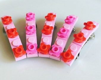 Brick Hair Clip Barrette Birthday Party Favor Pink Brick Hair Clip  Party Favor Girls Gift Brick Party Favors Girl Accessories
