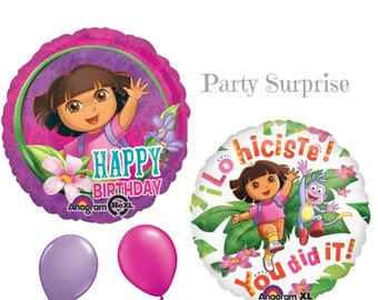 Dora Balloons Clearance Dora the Explorer Birthday Party Girl Party You Did It Decorations Balloons