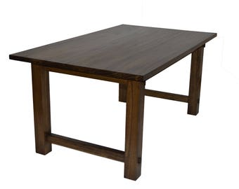 Rustic Kirsten Dining Table 65x38x30 Tall Farmer D