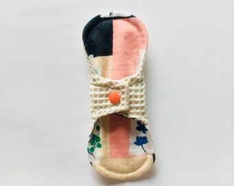 "7"" Organic Cotton Cloth Panty Liner, Cloth Pads, Mama Cloth, Mama Pads, Reusable Washable Cloth Pads, Moon Pads"