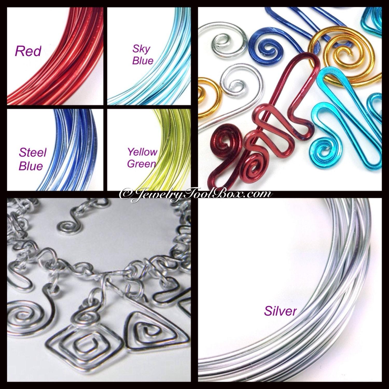 Aluminum Wire, 2mm Round, 12 Gauge, 18 Feet, 6 Meters, 20 Colors ...