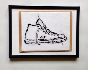 Art Cards---Stitched Tennis Shoe