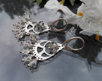 925 Silver earrings and Swarovski crystals