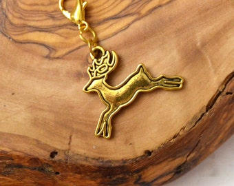 Deer Charm Stag Jewelry Woodland Travelers Notebook Planner Charm, Bag Charm Purse Accessories