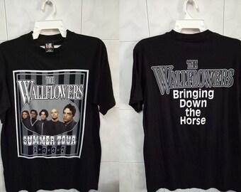 VINTAGE 90s THE WALLFLOWERS american rock band us jacob dylan rare tee shirt