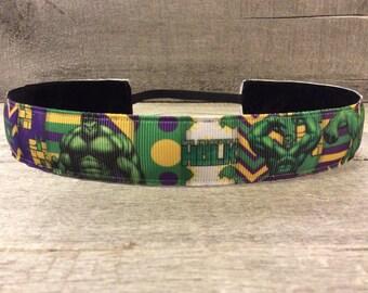 Hulk Inspired Nonslip Headband, Noslip Headband, Sports Headband, Running Headband, Athletic Headband
