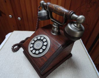 Western Electric Push Button Wooden phone.  The Country Squire.