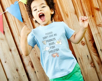Custom Kids Allergy Alert T-Shirt