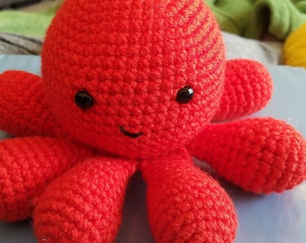 Handmade Octopus Plush Toy, Crochet Amigurumi Octopus, Stuffed Animal, Octopus Plushie, Easy to Wash Stuffed Octopus