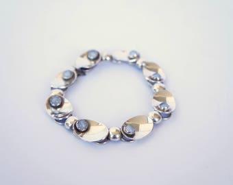 Silver bracelet with chalcedony 1954