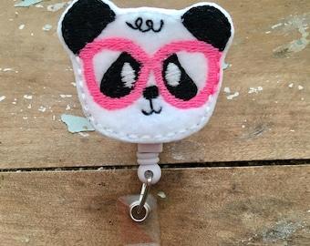 Nerdy Panda ID badge reel holder retractable clip