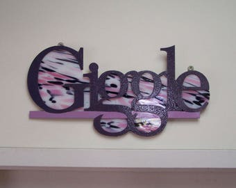 Giggle stained glass sign