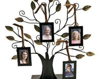 Engraved Family Tree Photo Sculpture - Small