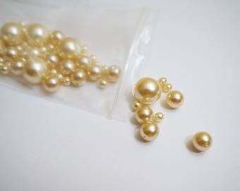 Bag of faux pearls - pink