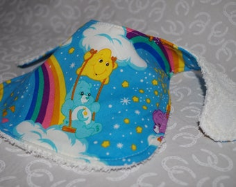 You CHOOSE! Care Bear, BOYDS Baby Bibs Cotton & Terry Cloth Backing