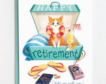 Retirement Card - Happy Retirement, Congratulations Card, Retirement Gift, Funny Retirement, Leaving Card