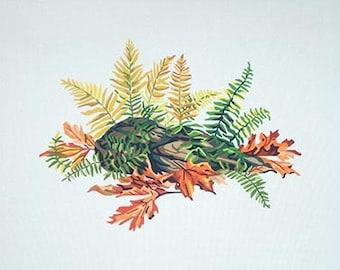 Botanical Needlepoint, Needlepoint Designs, Needlepoint, Autumn Needlepoint Designs, Needlepoint Canvas Supplies, Ferns & Leaves Needlepoint