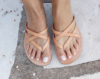 Womens leather sandals, strap sandal , 100% genuine leather