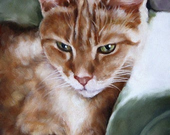 Custom Pet Portrait, Custom Cat Portrait, Animal Art, Custom Paintings, Oil Painting, 8x10