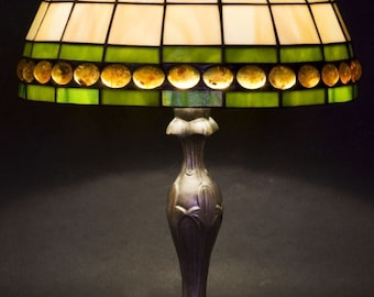 Tiffany Lamp, Bedside Lamp, Stained Glass Lamp, Amber Glass Lamp, Bedroom Lamps, Bedroom Lights, Bedroom Lighting, Library Lights