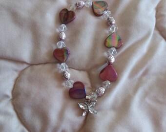Swarovski Bracelet with a Crystal Butterfly Charm