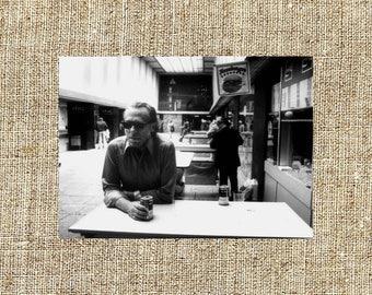 Charles Bukowski photograph, Charles Bukowski black and white photo print, vintage photograph, beautiful anniversary gift for him or her
