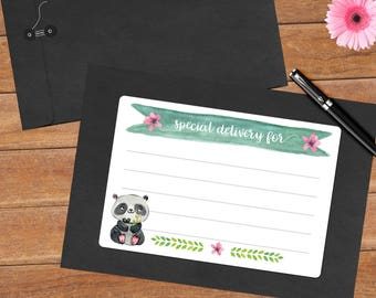 Peaceful panda - 8 mailing labels