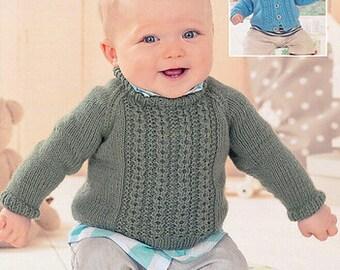 Sweater Knitting Pattern Leaflet Sirdar 1415 Snuggly DK, 0-7 years