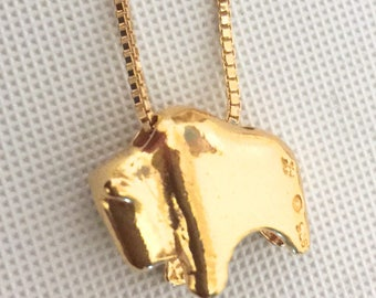 24KT Gold Buffalo Slider Gold Filled Box Chain. Custom made.