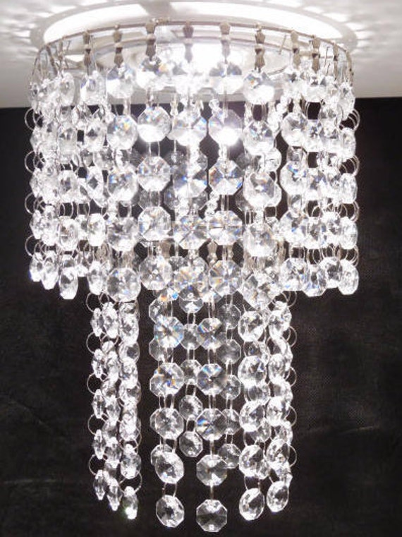 Luxe Crystal Acrylic For Recessed Light With Magnet For Pot - Chandelier crystals with magnets