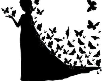 Elza siluette con le farfalle