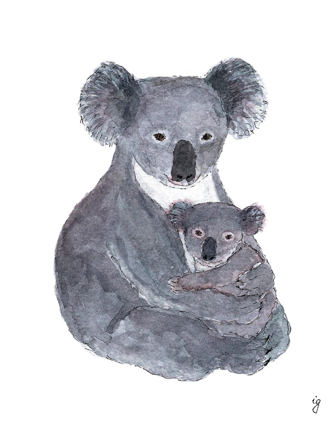 Mama Koala Greeting Card Blank Recycled Paper Made In
