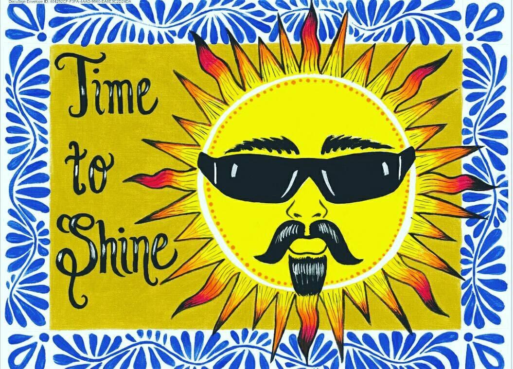 Cholo Sun/ Gangster Sun / Time to Shine Wall art. El sol