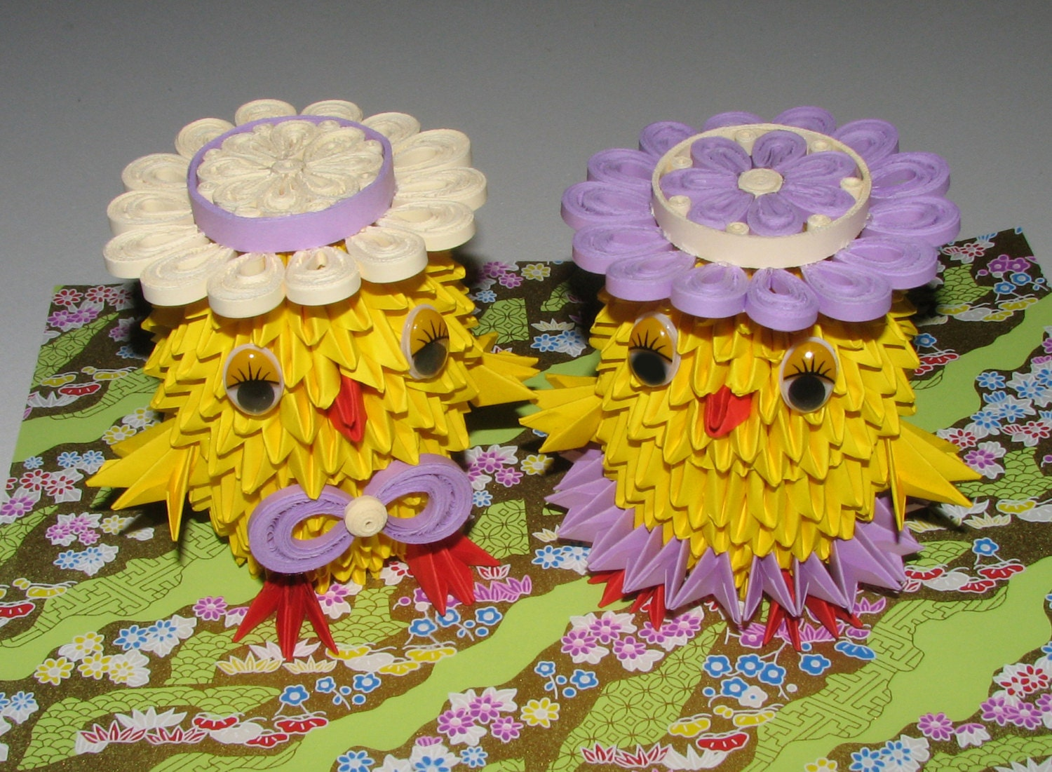 Modular origami Paper quilling Quilling art 3D origami Easter