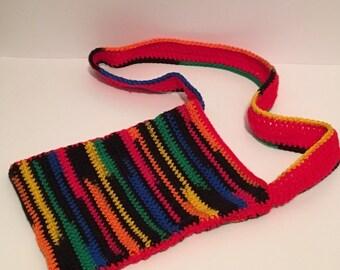 Cable Cross Crochet Blanket In Aqua Wheelchair Lap Crib