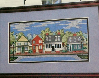 Cross Stitch Pattern | Julia Lucas | COLONIAL STREET SCENE | Counted Cross Stitch Pattern | Chart - fam